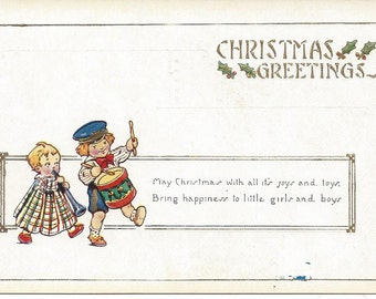 Lot of 4 Antique 1920s Unused Embossed Christmas Postcards- Great UNUSED Condition! New Old Stock - NOS