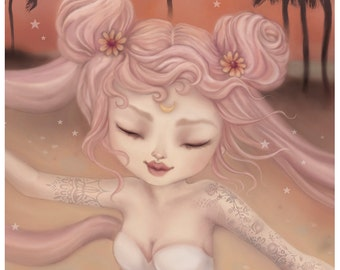 Small Size - The World Can Wait inspired by Sailor Moon Limited Edition Fine Art Print