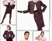 PATTERN Style 1090 Cropped jacket flap pockets, blouse, skirt and pants Size 14 Lifestyles de Vie (uncut)