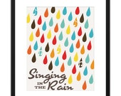 Printable Art - Lyrics Singing In The Rain 8x10