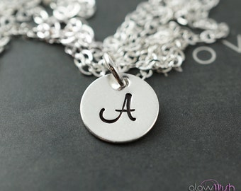 Initial necklace, bridesmaids gift