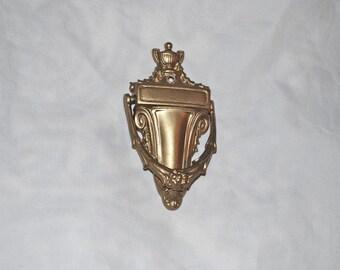 Petite Golden Door Knocker, Vintage