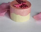 One Pink and Cream Jewelry gift box