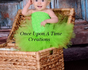 Ready To Ship - Lime Green Tutu or Dress - Birthday, Halloween Costume - Baby Girl 0 3 6 9 12 18 24 Months 3T 4T 5 6 7  8 Little Girls Size