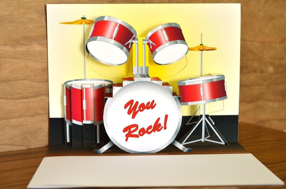 Red Drum Set Clipart Pop up Red Drum Set Birthday