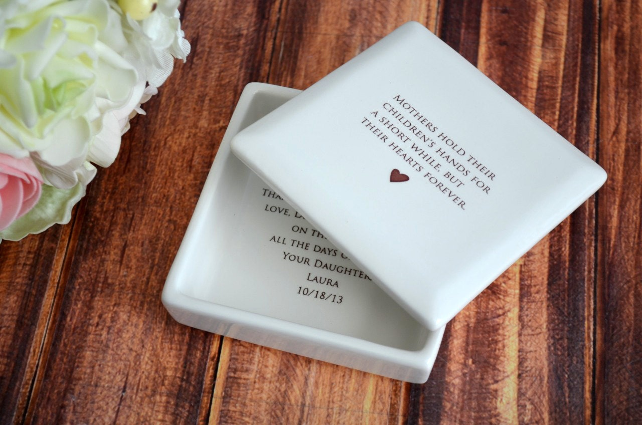 Unique Parent Wedding Gift Ideas: Unique Mother Of The Bride Gift Square Keepsake Box By