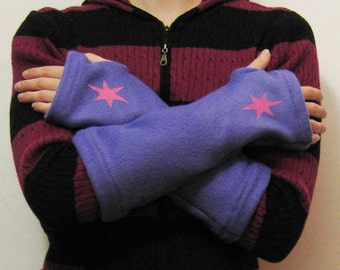 Twilight Sparkle My Little Pony Cuffs (Fingerless Gloves, Cuffies, Mitts...) MLP - Made to Order