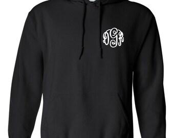 Monogram Hoodie Pullover Sweatshirt Monogrammed Gifts Hoodies Personalized Womens Gifts Monogram Fleece Jacket ADULT SIZES -EMBROIDERED