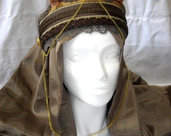 READY TO SHIP Crown Princess headdress, Whimsical Fantasy Hair Style, Larp, Wiccan ritual, byzantine crown, theater