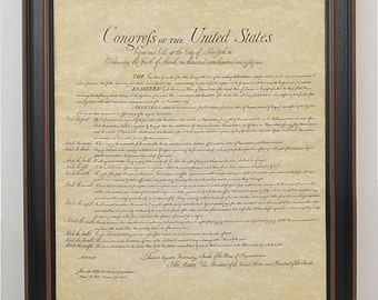 Framed Bill of Rights. Free Shipping!