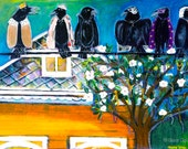 Mardi Gras Birds on a Wire, Limited Edition Art Print, by Gator Girl Art