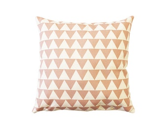 Dusty Pink Small Triangle Throw Cushion Cover 18 x 18 inch