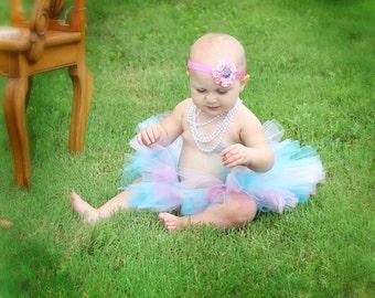 Pink and blue tutu. Sewn tutu
