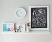 Coffee Shop Decor - Coffee Print - Coffee Illustration - Chalkboard Art - Kitchen Print - Kitchen Art - Coffee Gift  - Chalk Art
