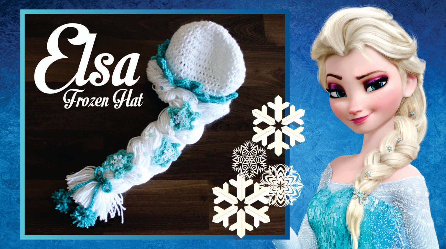 Crochet Elsa Hair Hat : Elsa Frozen Disney Movie Tiara Crown crochet hat on etsy www.OliCrafts