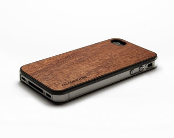 iPhone 4 Case Wood Mahogany, Wood iPhone 4S Case Wood iPhone 4 Case, iPhone 4 Wood Case, iPhone 4S Wood Case, iPhone Case