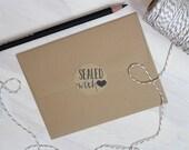 12 Rustic Kraft Sealed With Love Stickers | Kraft Stickers | Rustic Stickers | Gift Packaging | Rustic Labels | Wedding Stickers | Gift Wrap