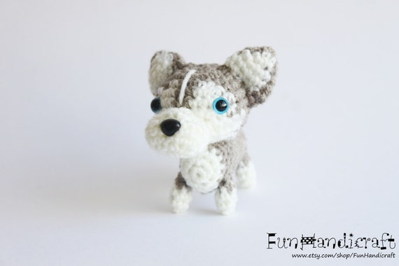 Amigurumi Legs Tutorial : Items similar to Siberian Husky Amigurumi Dog Crochet ...