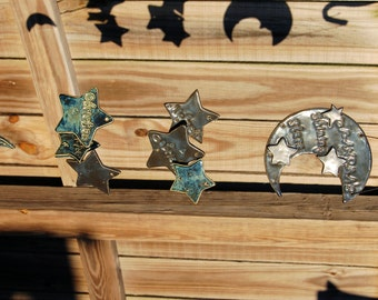 Grandma's Shining Stars Custom Family Ceramic Wind Chime