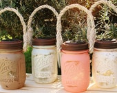 Rustic Mason Jar Lid with Solar Lights. Set of TWO.