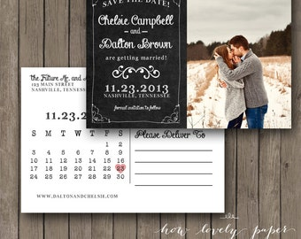 Printable Save the Date Postcard - the Izzie Collection