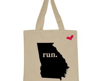 RUN Georgia Canvas Tote Bag