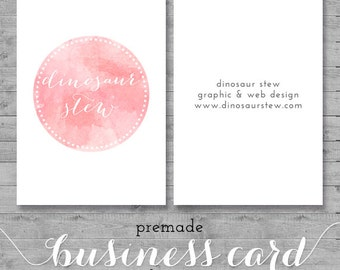 Square business card design gold foil we design you print watercolor business card design pink watercolor we design you print reheart Images