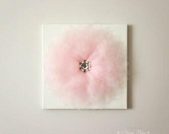 Baby Nursery Decor, Pink Flower, Wall Decor, Flower Decor, Nursery Decor, Flower Canvas, Shabby Decor, Home Decor, Baby Shower Decor