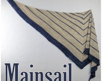 Mainsail - Triangle Shaped Knitted Shawl Pattern .pdf