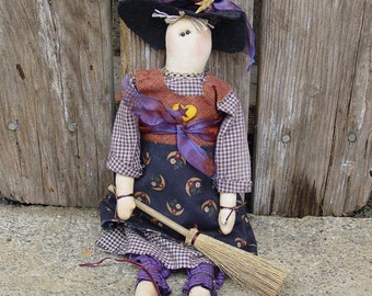 "Pattern: Georgia - 18"" Witch Rag Doll"