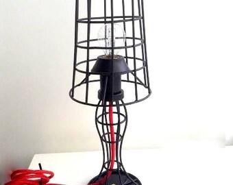 Cage table lamp industrial metal minimal table lamp light