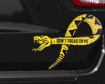 Gadsden Flag Decal Etsy