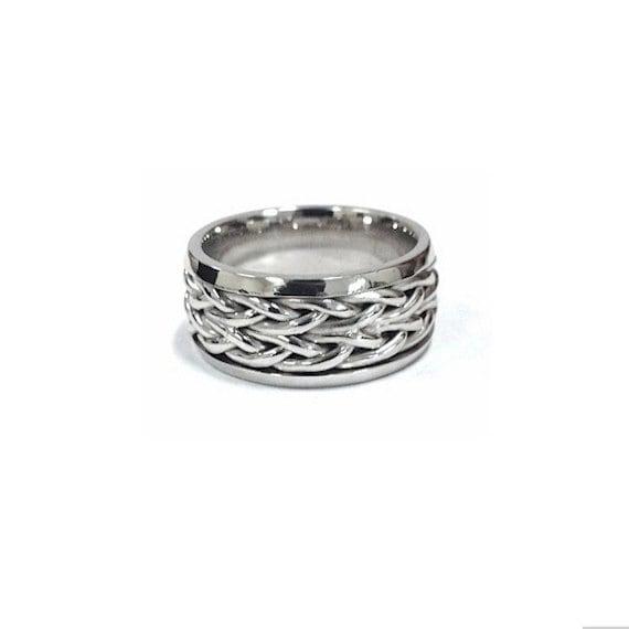 platinum wedding band ring nautical white gold sailor by