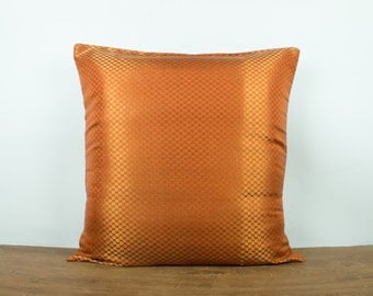 popular items for orange throw pillow on etsy