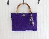 Purple Handmade Crochet Handbag