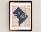 Georgetown University Dictionary Print - Washington DC Art - Print on Vintage Dictionary Paper - I Heart Georgetown - Hoya Saxa