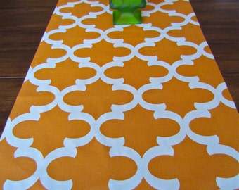 FALL TABLE Runner Sale Orange Table Runners Wedding Showers Orange Pumpkin  Thanksgiving Gray All Sizes.