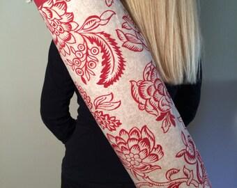 Yoga Mat Bag, Yoga Tote, Yoga Mat Carrier, Yoga Bag, Yoga Mat Bag with Optional Key Clasp