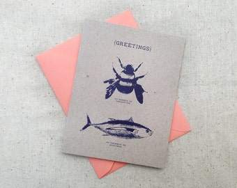 Bumblebee Tuna Greetings / Hello - Ace Ventura Card