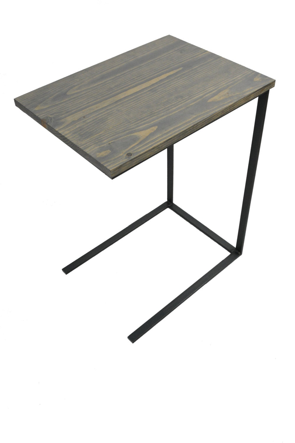 Tv tray table laptop desk c table side by blackironmetalworks for Table under tv