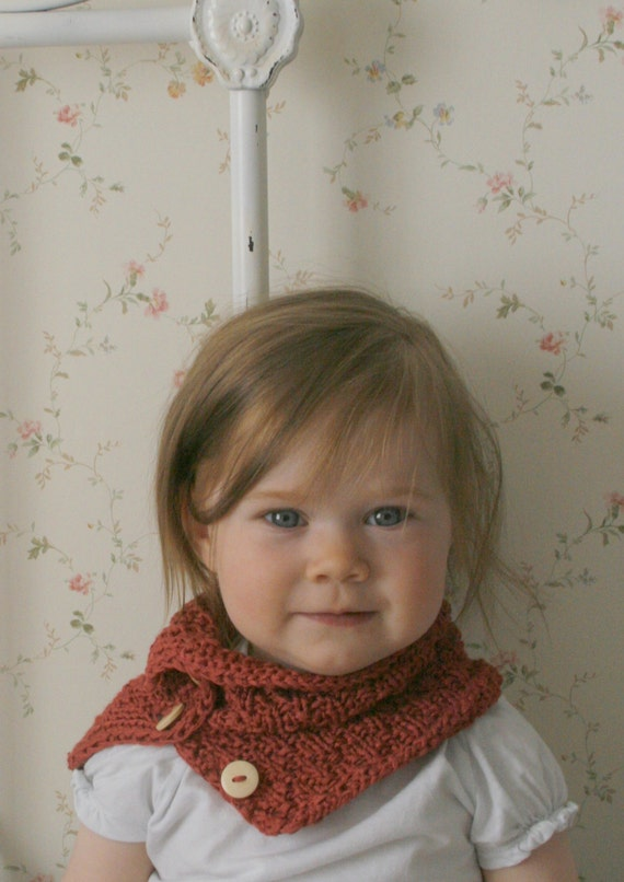 KNITTING PATTERN cowl buff Janette with buttons