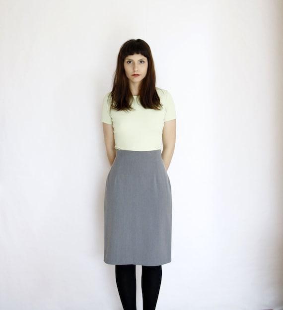 90s grey skirt high waisted minimalist