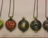 Premium aromatherapy locket pendant necklace with felt insert