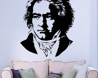 Vinyl Decal Johann Sebastian Bach Famous Music Composer Classic Music Wall Sticker (ig1771)