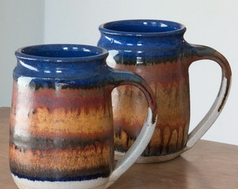 Mug in Midnight Gold glaze pattern - hand-thrown stoneware