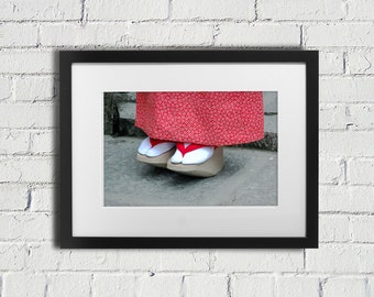 Japanese Shoes Photography - Red Japanese Shoes - Fine Art Photography - Travel Photography - Japan Photography - Japan Art