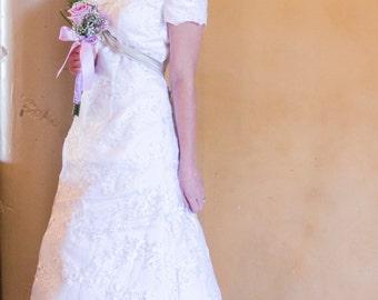 Adelaide Modest Wedding Dress - Custom Made Wedding Dress - Modest Wedding Dress with Sleeves - Lace Wedding Dress  - LDS Wedding Dress