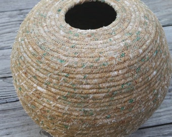 Wrapped Fabric Pot