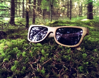 Wooden Sunglasses Oak HandMade Wood Eyewear Polarized Man Woman WOODEER Handcrafted