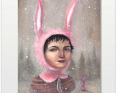 Oil Painting: Snow Bunny